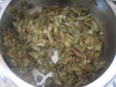 Fettuccine con carciofi e gamberi