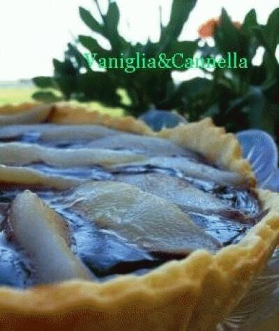 Crostata ciocco-pere e muesli