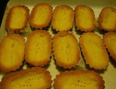 Barchette con crema di limone