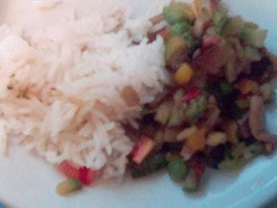 Basmati con verdure speziate
