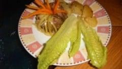 Anelli di carne con verdurine croccanti