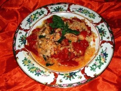 Cous-cous pomodorini, basilico e telline