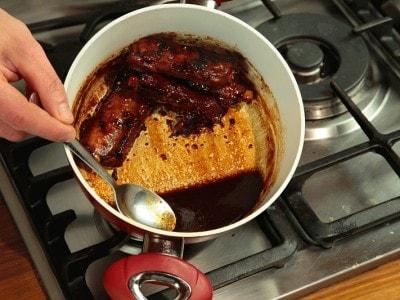 Costolette di maiale in salsa di caramello