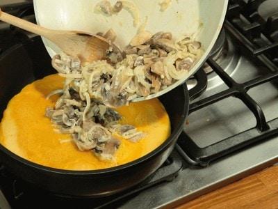 Frittata con funghi