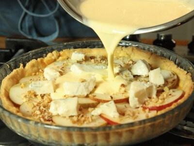 Quiche pere noci e gorgonzola