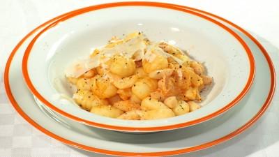 Gnocchi di patate con trippa e fagioli
