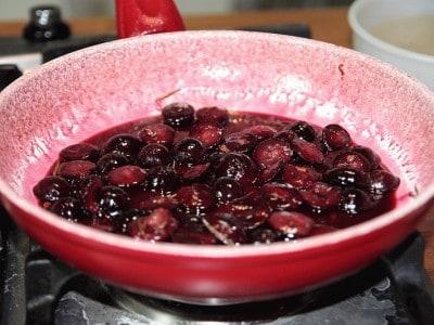 Filetto di maiale con uva, mosto  e rosmarino
