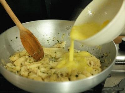 Trippa legata con le uova