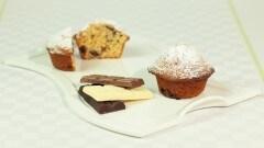 Muffins ai tre cioccolati