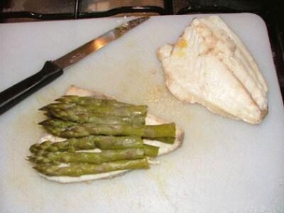 Orata e asparagi in salsa allo zafferano