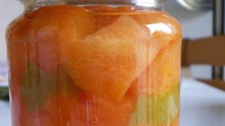 Melone allo sciroppo e limone verde