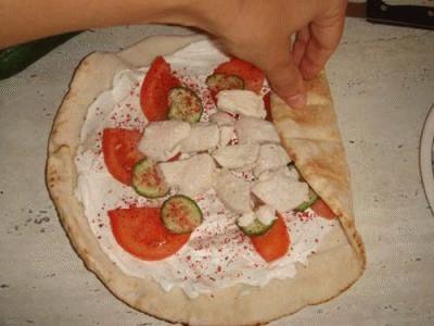 Il tipico panino arabo - Shawarma