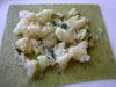 Tortelli aperti con ripieno di cavolfiore trifolato