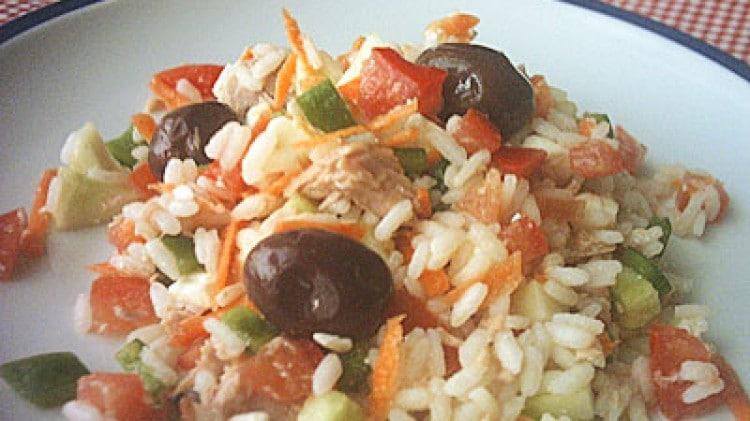 Riso in insalata greca