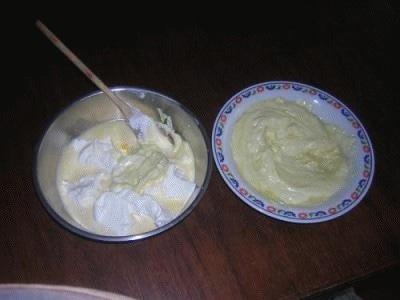 Cestini di gelato al cioccolato bianco