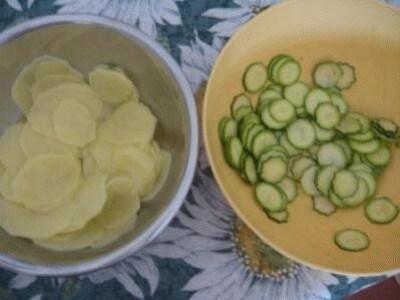Millefoglie di patate e zucchine