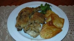 Pollo al parmigiano e pangrattato