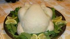Pollo in crosta di sale