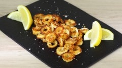 Anelli di calamaro gratinati