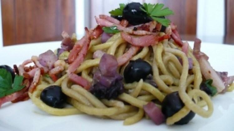 Spaghetti ai mirtilli