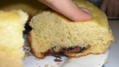 Ciambella con farina di mais e Nutella