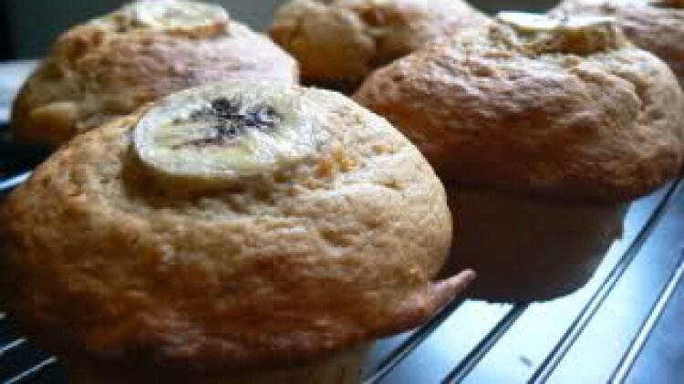 Muffins banana e albicocche