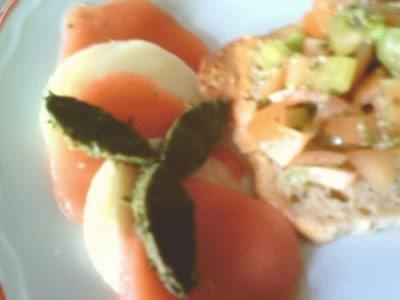 Aspic di pomodoro e basilico di anlari