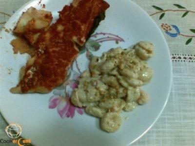 Orecchiette pistacchio e gamberi
