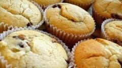 Muffin con ricotta e gocce di cioccolato