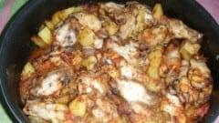 Pollo alla pizzaiola con patate