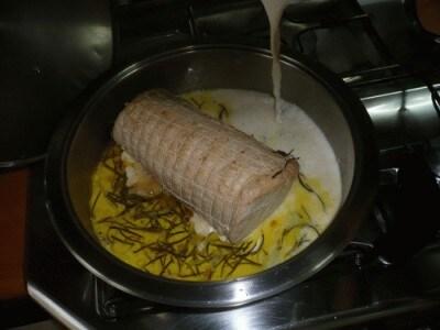 Arista di maiale in salsa di nocciole