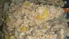 Farrotto funghi e zucca