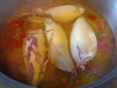 Calamari ripieni ai gamberi