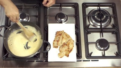 Fettine di maiale alla panna e senape