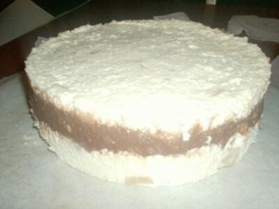 Torta con mousse alla pera e cioccolato