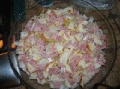 Teglia di indivia belga e patate