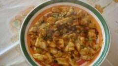 Bocconcini di pollo con zucchine