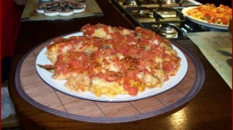 Baccala' gratinato