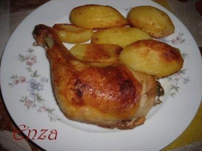 Pollo e patate con paprika