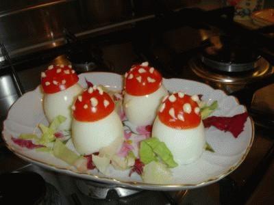 Uova a funghetto