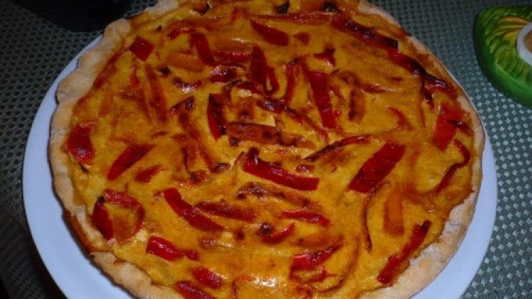 Quiche con briseè e peperoni