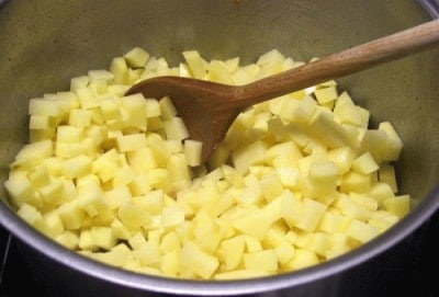 Crema di patate con lo speck