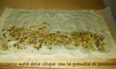 Ventagli al gorgonzola, noci e pistacchi