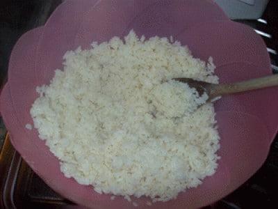 Cubetti di frittata di riso