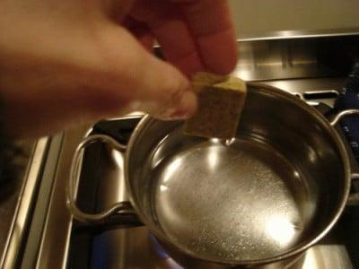 Risotto allo spumante e crema di piselli