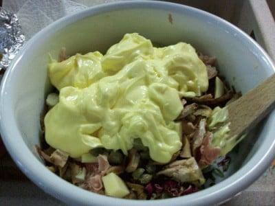 Pollo in insalata con maionese