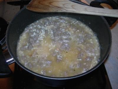 Polpette di riso e salsiccia