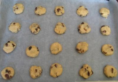Biscotti rapidi alle uvette
