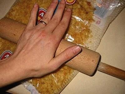 Pepite di pollo alle patatine fritte
