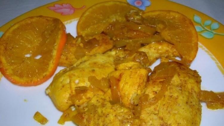 Pollo con arancia e spezie